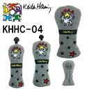●Keith Hering/キースヘリングヘッドカバーライトグレー KHHC-04 [国内正規品]