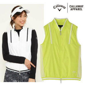 2021 S/S Callaway キャロウェイ ウェア【レディース】 フルジップベスト 241-1116800