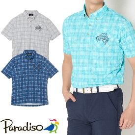 ●2020 S/S Paradiso パラディーゾウェア【メンズ】半袖ボタンダウンシャツ 3SR08A
