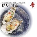 殻付き牡蠣 かき カキ 北海道 厚岸 マルえもん 希少な特大3Lサイズ(1個約150g) 10個セット 生食可 生牡蠣 お取り寄せ ギフト 内祝い