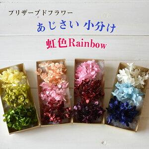 あじさい 小分け 3色 レインボー ハーバリウム プリザーブドフラワー 花材 hk093