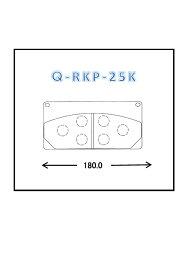 【スーパーセール】QLINE Q-RKP-25K ラフタークレーンパッド2枚入り ブレーキパッド