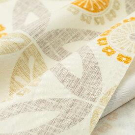 オックス生地 lina ベージュ 150cm幅 [10cm単位販売] 大柄 プリント ワイド幅 コットン 綿 切り売り