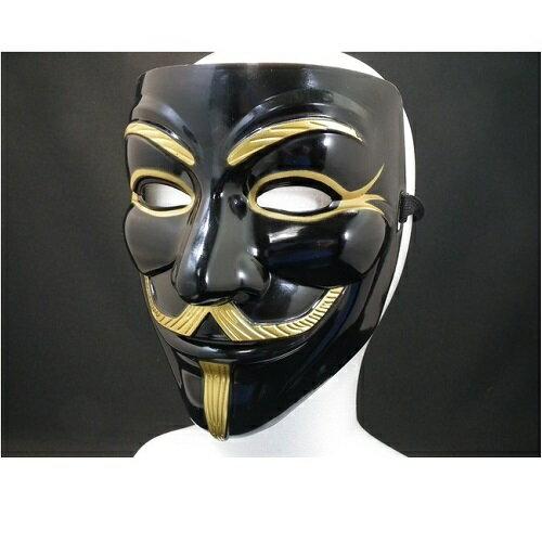アノニマスマスク黒色 ガイ・フォークス 仮面 お面 販売 通販 ハロウィーン 送料無料
