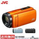 アウトレット【3年延長保証対象商品】JVC Everio R ビデオカメラ オレンジ ブルー ブラック 64GB 光学40倍 高倍率ズ…