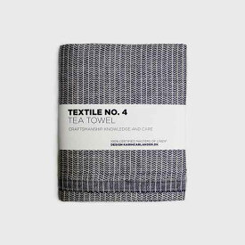 【TEXTILE No.4】キッチンタオル 50x75 yinyang ダークブルーxホワイト/北欧デザイン/天然素材/麻100%/麻ふきん