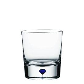 【Orrefors】オレフォス INTERMEZZO オールドファッショングラス ブルー / ウイスキーグラス バーアイテム 北欧グラス シンプル
