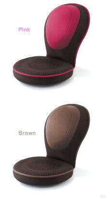 子供サイズの「背筋がGUUUN美姿勢座椅子コンパクト」ピンク・ブラウン