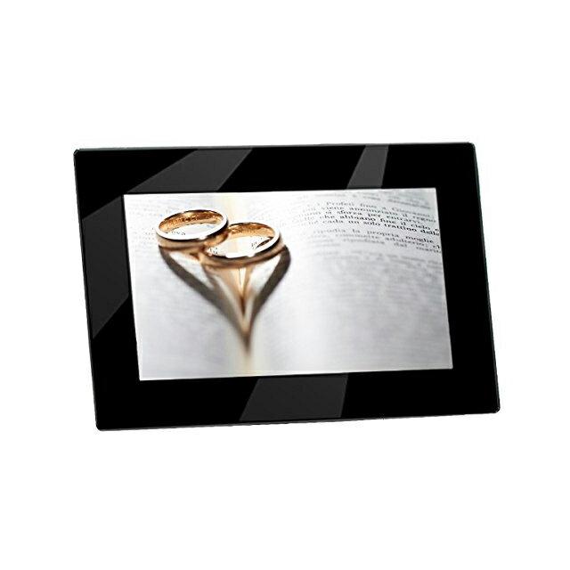 【送料無料】 KEIAN ケイアン 恵安 名入れ デジタルフォトフレーム 7インチ ブラック プレゼント ギフト 贈り物 結婚祝い 結婚式 写真立て 結婚記念日 両親 誕生日 バースデー 彫刻 メッセージ入り 付き合って記念 父の日 KDPF07022S-BK