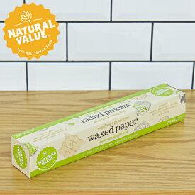 NATURAL VALUE ワックスペーパー シート 30cm×20m 無漂白 食品用 パラフィン紙 アメリカ製 ナチュラルヴァリュー ナチュラルバリュー