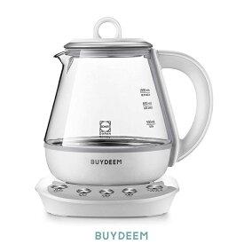 BUYDEEM バイディーム 薬膳ティーポット 1.0L ホワイト 薬膳レシピ付き . 煎じ器 電気ケトル 加熱温度帯 自動制御 漢方薬 薬膳茶 とろ火 煮出 スロークッカー
