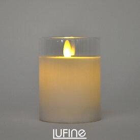 Lufine ルフィネ LEDキャンドル ナチュラル lufine006 グラスキャンドル キャンドルライト ろうそく ゆらぎ 炎 ナイトライト インテリア 部屋 装飾 おしゃれ