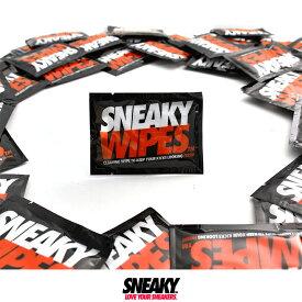 【限定生産】SNEAKY wipes スニーキー ワイプス 携帯 1枚入り 個装 洗浄シート ウェットシート 大判 大きい ドット スニーカークリーナー ワイプス 洗浄シート ドット 靴磨き シート シューズケア シューケア スニーカー保存