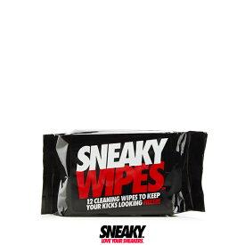 SNEAKY スニーキー ワイプス 12枚入り 洗浄シート ウェットシートスニーカー クリーナー ワイプス 携帯 洗浄シート 大きい 大判 PVC ドット付き 靴磨き シート シューズケア シューケア スニーカー保存