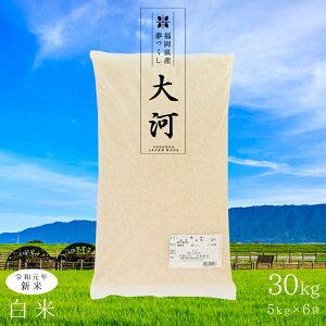 福岡産 精米 30kg 特A 令和元年 夢つくし 新米 5kgx6 通常袋(簡易) ギフト お祝い 日本産 お米 柔らかい しっとり 程よい粘り