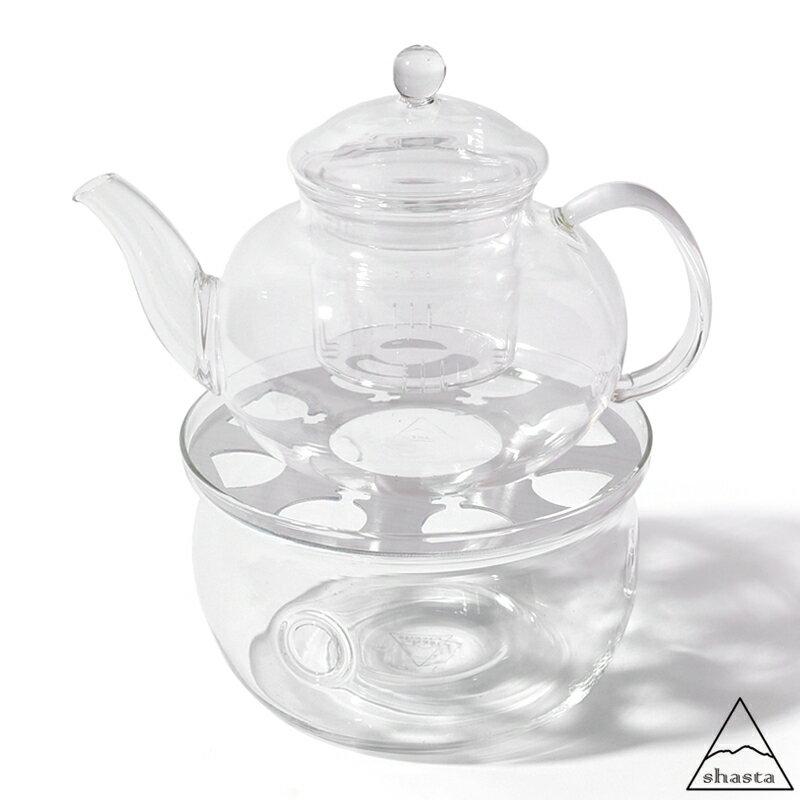 shasta シャスタ ティーポット&ウォーマー セット 420ml 耐熱ガラス キャンドル ロウソク 温め 茶こし付き アイス ホット