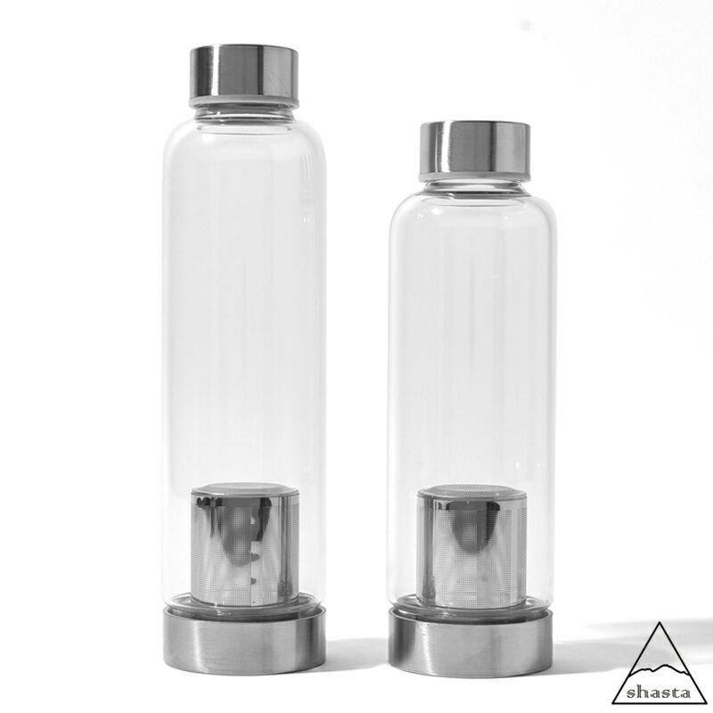 shasta シャスタ ティーボトル 420ml/550ml 耐熱ガラス ボトル ガラス 硝子 水筒 茶こし付き アイス ホット