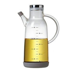 オイルボトル ガラス製 透明 液だれしにくい 取手付き 蓋つき 大容量 700-750ml 液体調味料入れ 油 オイル 液体 保存容器 おしゃれ 保存容器 スープ 出汁 ガラス 取手 おしゃれ キッチン 便利グ