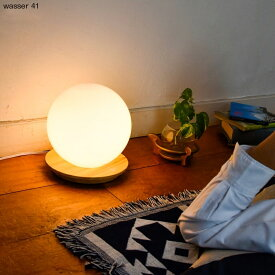 wasser LED 間接照明 インテリアライト 卓上ライト テーブルライト ベッドサイドラライト 玄関 寝室 カウンター 20cm オレンジ 電球色 ホワイト 木目調 北欧デザイン wasser41