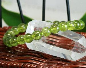 シンプル ペリドット ブレスレット ブレス 8月誕生石 一点 限定 天然石 パワーストーン 橄欖石 夫婦関係 金運 送料無料
