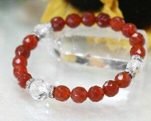 カーネリアン レッドアゲート ブレスレット 赤メノウ ブレスレット 赤瑪瑙 パワーストーン ブレスレット 天然石 ブレスレット 送料無料