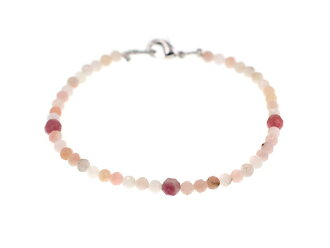Pink opal bracelet | Pink tourmaline | Natural stone | Crystal | Power stone | Tourmaline | Opal bracelet | Stone amulet for an easy delivery | Breath | Cut
