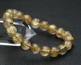 ゴールドルチルクォーツ 金針水晶 ゴールドルチルクォーツ ブレスレット 天然石 パワーストーン
