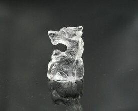 天然石 水晶 龍置物 ミニ龍の置物 水晶龍彫り|お守り|パワーストーン 水晶たつ置物|クリスタルりゅう|開運グッズ|金運 仕事運|メール便送料無料