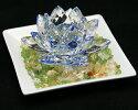 クリスタルガラス蓮の花|蓮の花置物クリスタルガラス蓮の花置物癒しアイテムクリスタルガラス蓮の花小|風水グッズ|開運イテンリヤ|置物|民芸品|風水アイテム|縁起物|