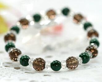 孔雀石茶晶水晶手链 | 孔雀石茶晶水晶手链 | 石 | 护身符 | 愈合 | | 天然石手链 | 电力石手链 |