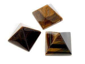 【 送料無料 】タイガーアイ 虎目 石 ピラミッド ピラミッド型 三角 形 置物 天然石 パワーストーン インテリア