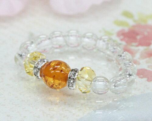 アンバー シトリン リング|アンバー |琥珀|誕生石 お守り|黄水晶|琥珀 指輪|天然石|パワーストーン|水晶|リング|指輪|天然石 リング|メール便 送料無料|