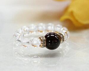 ガーネット 指輪 クリスタル リング 水晶 天然石 パワーストーン 1月誕生石 サイズ調整可能 メール便送料無料