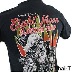 ロック・バイカーズ「モヒカンスカル」半袖Tシャツ 微笑みの国「タイ王国」直輸入Tシャツ お土産 i_thai09