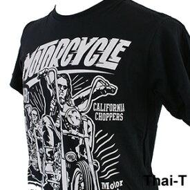ロック・バイカーズ「MOTOR CYCLE」半袖Tシャツ 微笑みの国「タイ王国」直輸入Tシャツ お土産 i_thai10