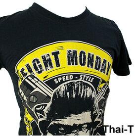 ロック・バイカーズ「EIGHT MONDAY」半袖Tシャツ おサル・モンキー 微笑みの国「タイ王国」直輸入Tシャツ お土産 i_thai15