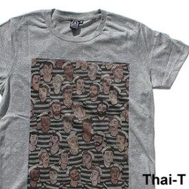 ユニークなイラスト「ストライプTシャツの水兵たち」半袖Tシャツ 微笑みの国「タイ王国」直輸入Tシャツ お土産 i_thai30
