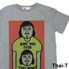 ユニークなイラスト「変なおじさん」半袖Tシャツ 微笑みの国「タイ王国」直輸入Tシャツ お土産 i_thai32