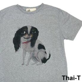 ユニークなイラスト「キャバリア」半袖Tシャツ 微笑みの国「タイ王国」直輸入Tシャツ お土産 i_thai33