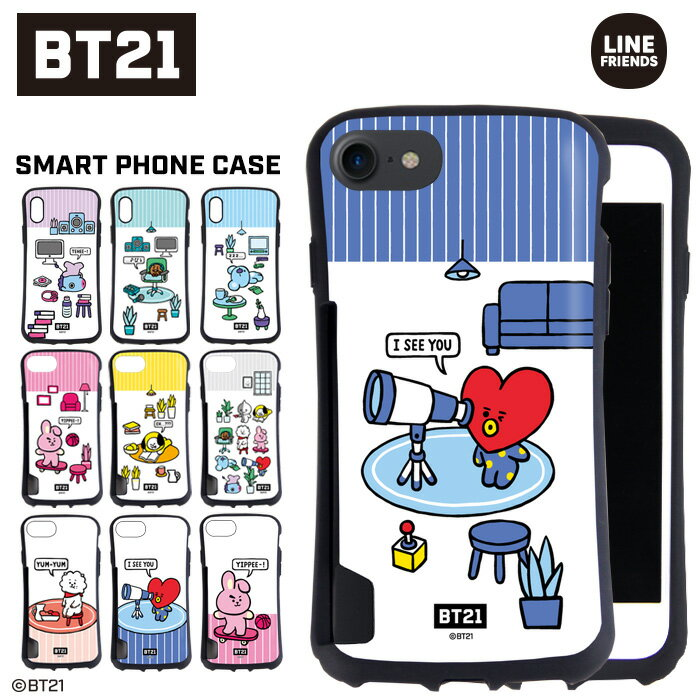 BT21 公式 グッズ iphone ケース 耐衝撃 バンパー iPhoneXS iPhone XS MAX iPhoneXR iPhone8 Plus iPhone7 Plus iPhone6S Plus iPhone6 Plus (RJ CHIMMY COOKY TATA KOYA SHOOKY MANG) かわいい コラボ カバー 韓国