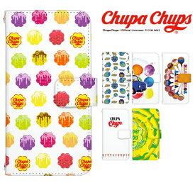 チュッパチャプス スマホケース 全機種対応 手帳型 iPhone12 ケース aquos sense3 iPhone11 Pro iPhone SE2 XR android one デザイン Chupa Chups コラボ 携帯ケース カバー ベルトなし かわいい チュッパチャップス