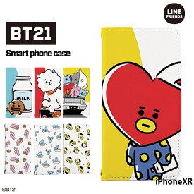 iPhoneXR ケース iPhone XR カバー 手帳型 アイフォンXR アイホンXR iphoneてんあーる テンアール デザイン BT21 グッズ 公式 BT21