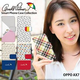OPPO AX7 ケース 手帳型 スマホケース 楽天モバイル オッポ 携帯ケース カバー デザイン アーノルドパーマー ブランド コラボ かわいい おしゃれ 韓国 携帯ケース