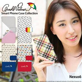 Nexus6 ケース 手帳型 スマホケース ネクサス Y!mobile ワイモバイル 携帯ケース カバー デザイン アーノルドパーマー ブランド コラボ かわいい おしゃれ 韓国 携帯ケース