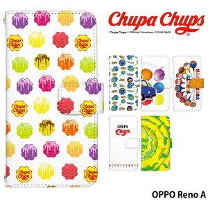 OPPO Reno A ケース 手帳型 スマホケース オッポrenoa オッポ 携帯ケース カバー デザイン Chupa Chups チュッパチャプス かわいい おしゃれ