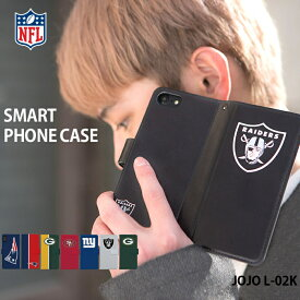 JOJO L-02K ケース 手帳型 ジョジョ docomo ドコモ カバー デザイン NFL グッズ 正規品 チーム レイダース Oakland Raiders アメフト