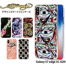 Galaxy S7 edge SC-02H ケース ギャラクシー docomo ドコモ ハード カバー sc02h デザイン エドハーディー Ed Hardy