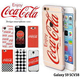 Galaxy S9 SCV38 ケース ギャラクシー au ハード カバー scv38 デザイン コカ コーラ COCA COLA