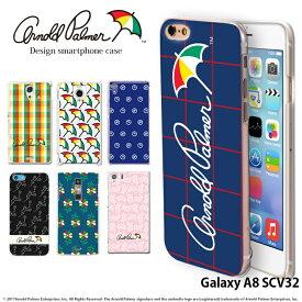 Galaxy A8 SCV32 ケース ギャラクシー au ハード カバー scv32 デザイン アーノルドパーマー arnold palmer