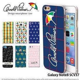 Galaxy Note8 SCV37 ケース ギャラクシー au ハード カバー scv37 デザイン アーノルドパーマー arnold palmer